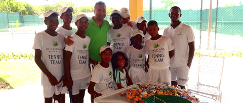 Our CEO, Sam Jain visits the ball boys and Tennis Stars